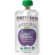 Once Upon a Farm Organic Cold-Pressed Applesauce, Apple Blueberry