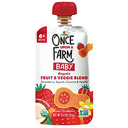 Once Upon a Farm Organic Cold-Pressed Stage 3 Baby Food, Sun-Shiny Strawberry Patch