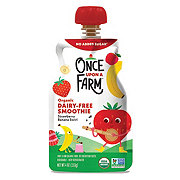 Once Upon a Farm Organic Cold-Pressed Super Smoothie, Strawberry Banana Swirl