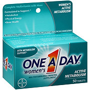 One A Day Women's  Multivitamin/Multimineral Supplement Active Metabolism Tablets