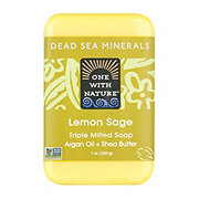 One With Nature Dead Sea Lemon Verbena Mineral Soap