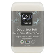 One With Nature Dead Sea Mineral Salt Soap with Argan Oil & Shea Butter