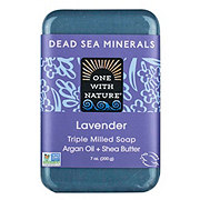 One With Nature Dead Sea Minerals Lavender Soap with Argan Oil & Sea Butter