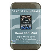 One With Nature Dead Sea Minerals Mud Soap with Argan Oil & Shea Butter