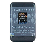 One with Nature Dead Sea Spa Soap Activated Charcoal