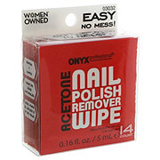 Onyx Professional Acetone Nail Polish Remover Wipes