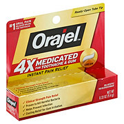 Orajel Instant Pain Relief For Severe Toothache Maximum Strength Cream