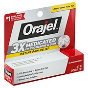 Orajel Instant Pain Relief For Toothache Maximum Strength Gel