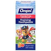 Orajel PAW Patrol Fluoride Free Training Toothpaste, Fruity Fun Flavor