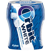 Orbit White Peppermint Sugarfree Gum, 40 ct Bottle