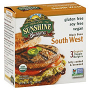 Organic Sunshine Burgers Black Bean South West Veggie Burgers