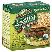 Organic Sunshine Burgers Garden Herb Veggie Burgers