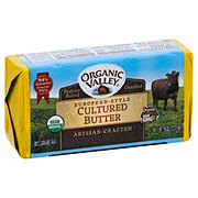 ORGANIC VALLEY European Style Unsalted Cultured Butter