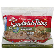 Oroweat Sandwich Thins 100% Whole Wheat Flax & Fiber Rolls