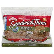 Oroweat Sandwich Thins 100% Whole Wheat Flax & Fiber Sandwich Thins
