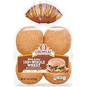 Oroweat Whole Grain 100% Whole Wheat Hamburger Buns