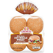 Oroweat Whole Grains 100% Whole Wheat Hamburger Buns