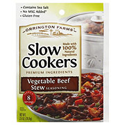 Orrington Farms Slow Cookers Vegetable Beef Stew Seasoning