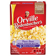 Orville Redenbacher's Pour Over Movie Theater Butter Microwave Popcorn