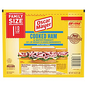 Oscar Mayer Cooked Ham Zip Pak Family Size