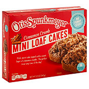 Otis Spunkmeyer Mini Loaf Cake Cinnamon Crumb