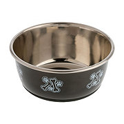 Our Pet's Medium Gunmetal Fashion Stainless Steel Bowl