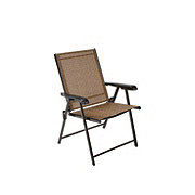 Outdoor Solutions Brown Folding Sling Chair