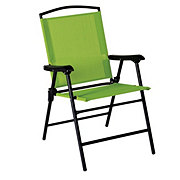 Outdoor Solutions Green Folding Sling Chair
