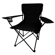 Outdoor Solutions Low Back Folding Chair, Black