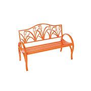 Outdoor Solutions Orange Tulip Bench