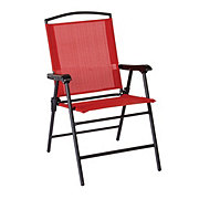 Outdoor Solutions Red Folding Sling Chair