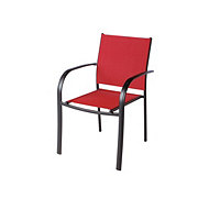 Outdoor Solutions Sling Stacking Chair, Red