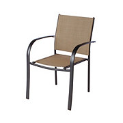 Outdoor Solutions Sling Stacking Chair, Tan