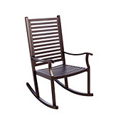 Outdoor Solutions Steel Rocker With Wood Look