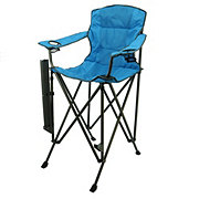 Outdoor Solutions Tall Boy Blue Folding Chair