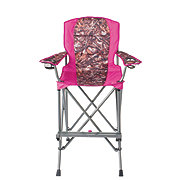 Outdoor Solutions Tall Boy Pink Camo Folding Chair