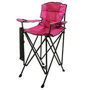 Outdoor Solutions Tall Boy Pink Folding Chair