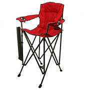 Outdoor Solutions Tall Boy Red Folding Chair