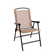Outdoor Solutions Taupe Folding Sling Chair