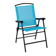 Outdoor Solutions Teal Folding Sling Chair