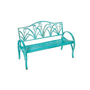 Outdoor Solutions Teal Tulip Bench