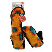 Outward Hound Invincibles 6 Squeak Orange/Blue Snake