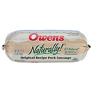 Owens Naturally Original Recipe Pork Sausage