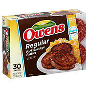 Owens Regular Pork Sausage Patties