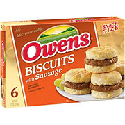 Owens Snack Size Biscuits with Sausage