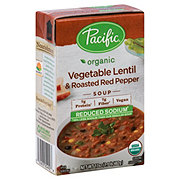 Pacific Foods Organic Reduced Sodium Vegetable Lentil & Roasted Red Pepper Soup