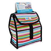 Pack It Brush Stripes Lunch Sack
