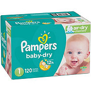 Pampers Baby-Dry Diapers 120 ct