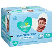 Pampers Complete Clean Baby Wipes Fresh Scent