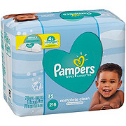 Pampers Complete Clean Baby Wipes Scented Refill